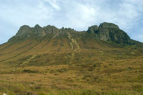 Stac Pollaidh from near the...