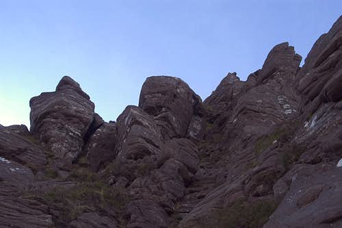 Below the west buttress from...