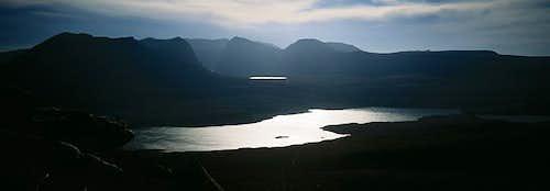 Loch Lurgainn glistening in...