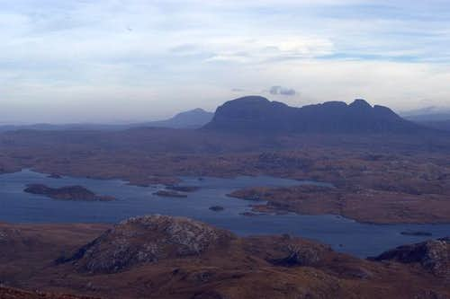 Looking over to Suilven