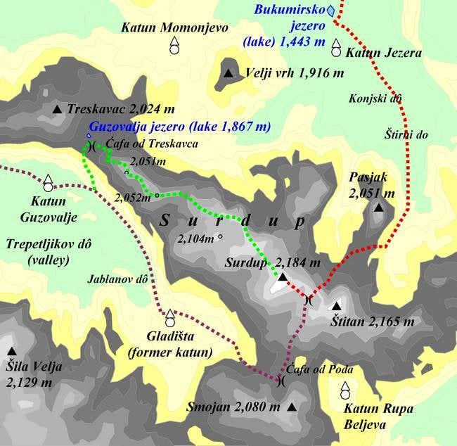Surdup map