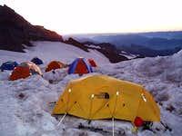 Camp Muir at sun set  July...