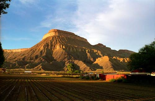 Mt. Garfield, CO, at sunrise....