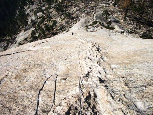Looking down pitch 4 of Snake...
