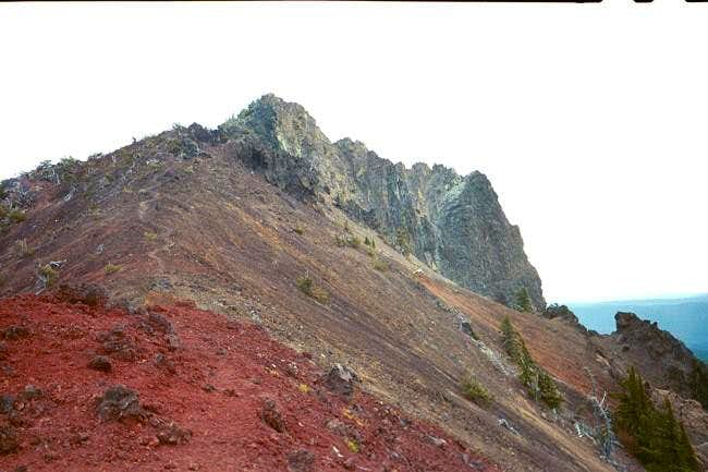 Looking up at the summit from...