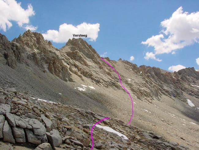 Mt. Versteeg from the...