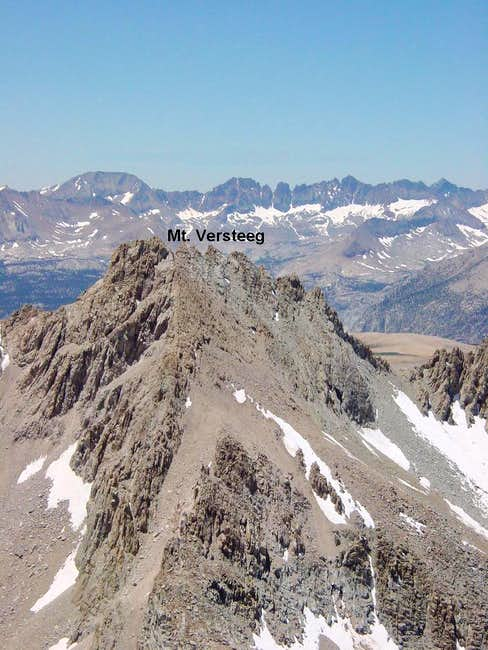Mt. Versteeg viewed from the...