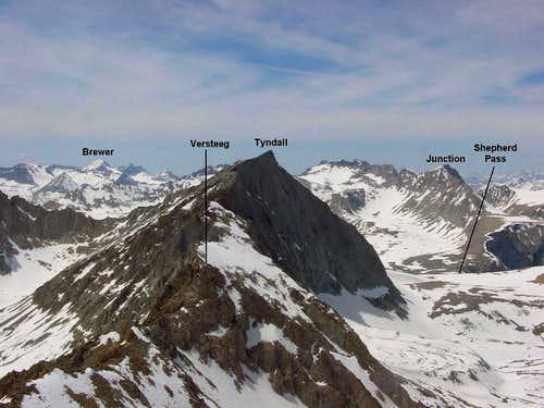 Mt. Versteeg viewed from the...