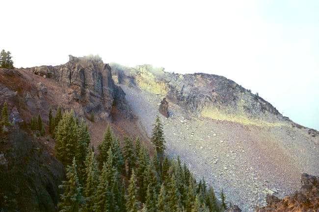 Sawtooth Mountain summit....