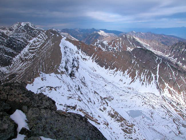 View north from summit of...