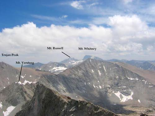 Mt. Versteeg from the summit...