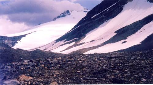 View up the north glacier of...
