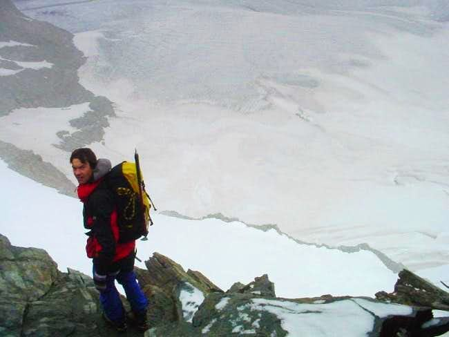 deep down Pers glacier, view...