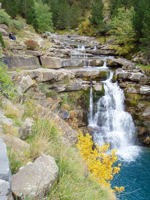 The beautiful cascade of the...
