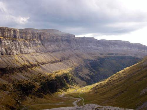 The upper Ordesa Canyon...
