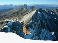 The summit ridge west of...