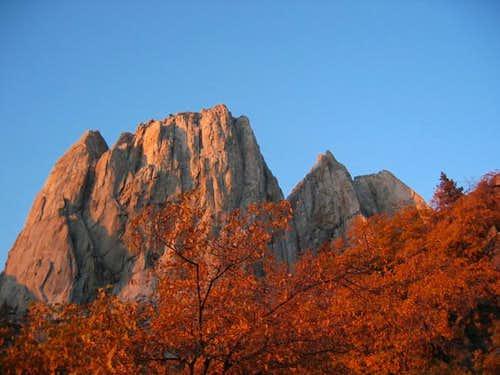 Autumn colours below Valhalla...