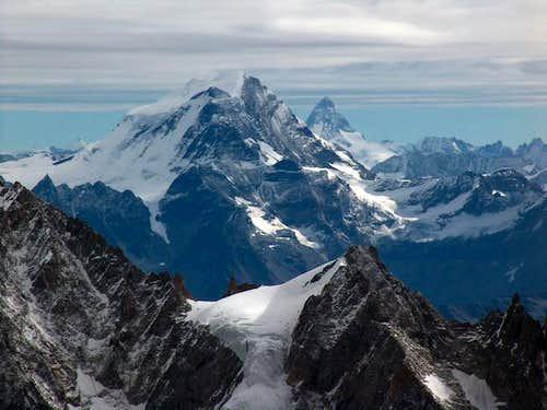 Grand Combin and Matterhorn...