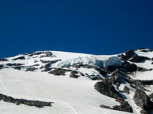 Huge Kautz Icefall looming...