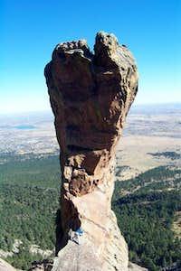 My partner on the west ridge...