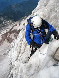 Setting up a rappell using a...