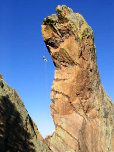 A climber on the famous...