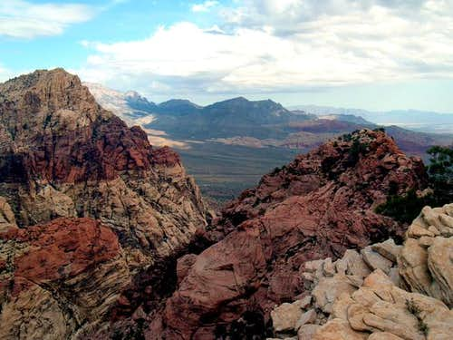 Overlooking Redrock from the...