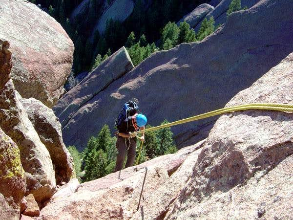 brenta on the second rappel...