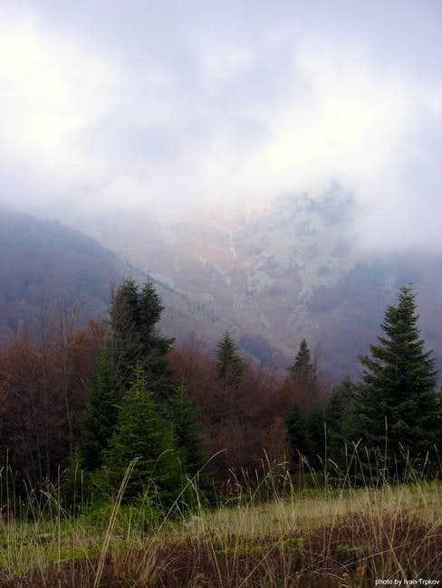 Skrkovo peak covered with...