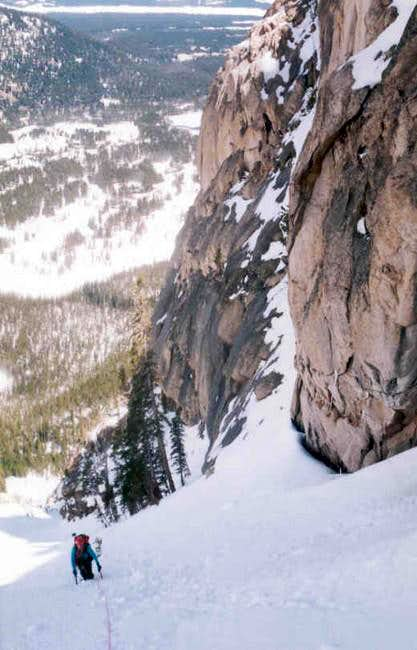 Lower section of couloir,...