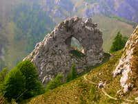 Porta di Prada from the trail...