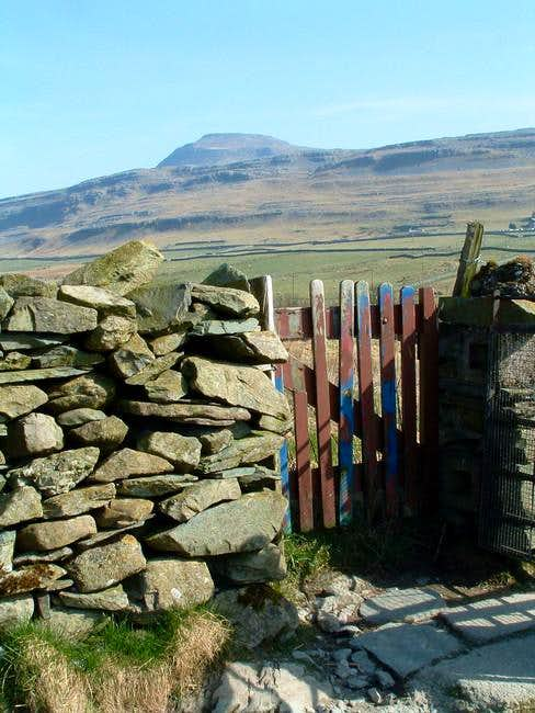 Ingleborough from just north...