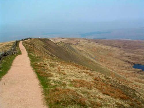 Whernsides summit ridge.