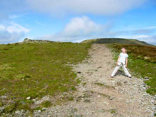 Nearing the summit of...