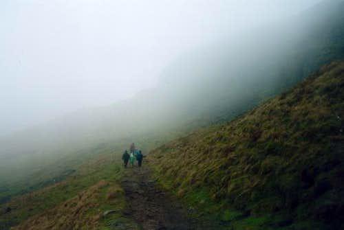 Walking in the mist, near the...