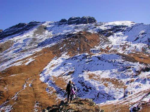 The ridge of Testa di...