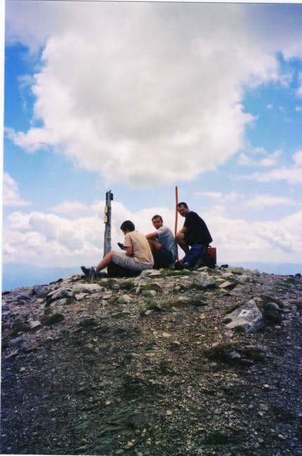 On the summit in July, 2004....
