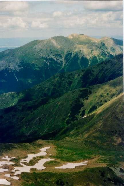 Západné Tatry, west from...