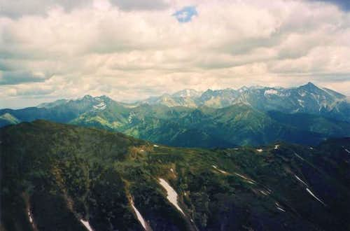 View on Vysoké Tatry (east)...