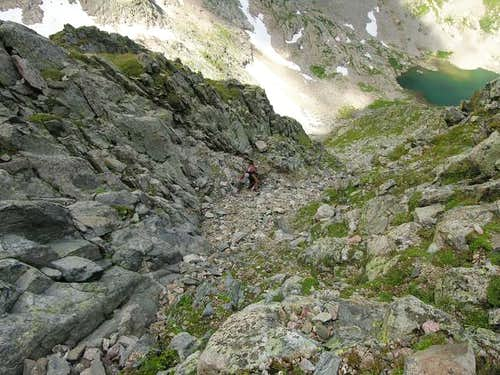 Typical terrain on Peak R\'s...