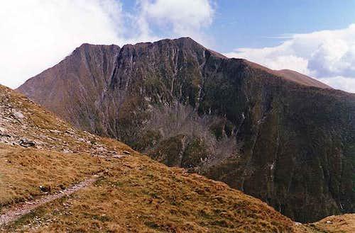 The peak of Moldoveanu viewed...