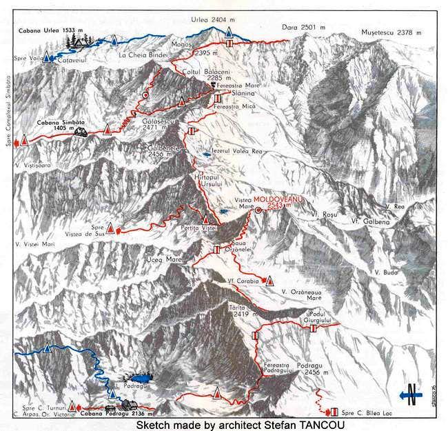 Map overlooking the Fogaras...
