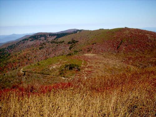 Shining Rock from Tennent Mt...