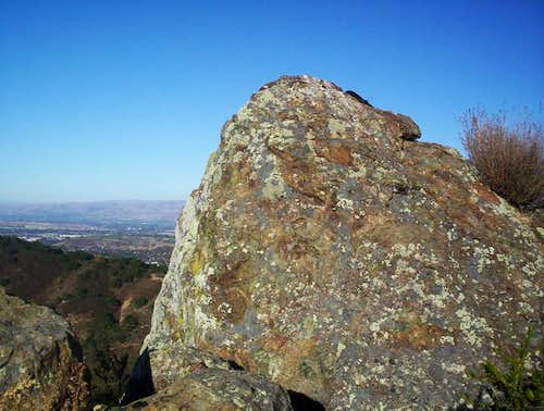 The summit of Ganja Rock. The...