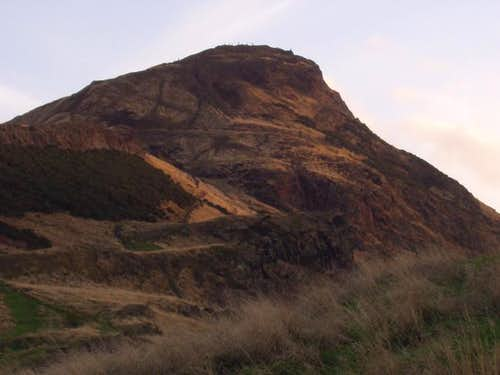 Arthur's Seat catching the...