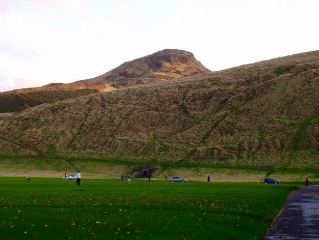 The hill seen from outside...