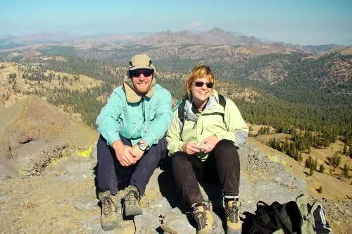 Adam and Sarah on the Summit...