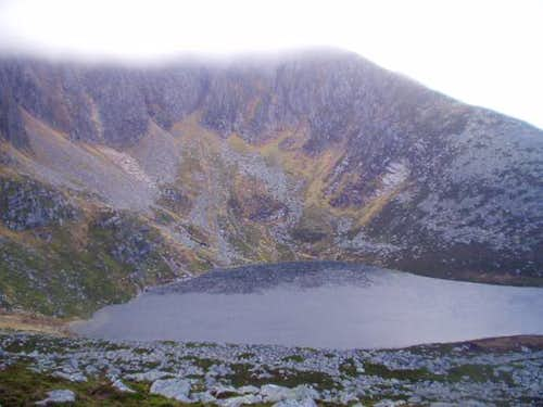 The Loch from the saddle.