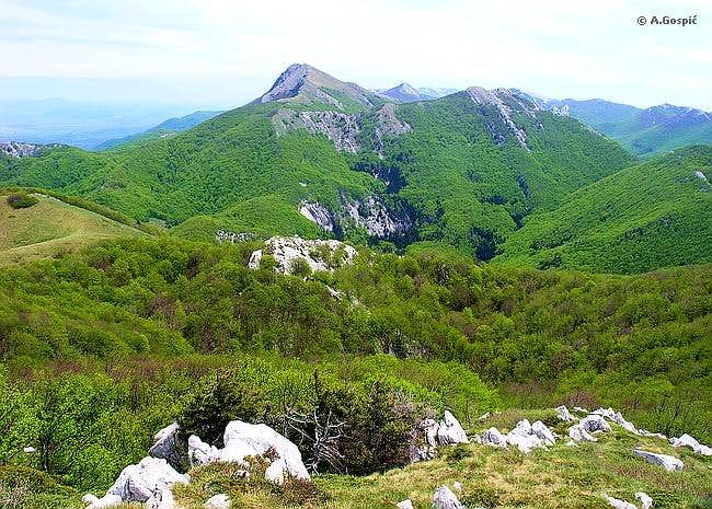 Visocica from Troseljev Vrh