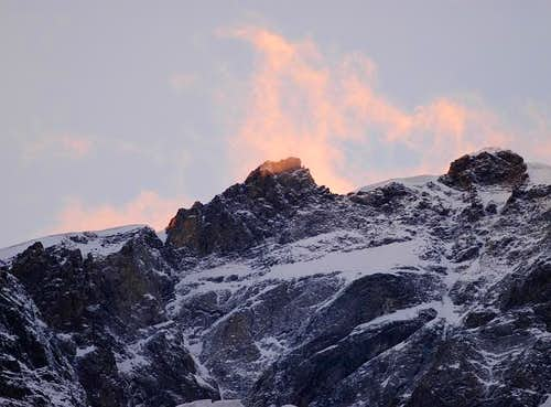 Sunset flames over Corno Nero...